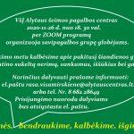 SAVIPAGALBOS GRUPĖ GLOBĖJAMS (RŪPINTOJAMS) IR ĮTĖVIAMS